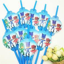 Pj Mask Party Decoration Ideas 100pcs Straw Pj Masks Party Supplies Party Decoration Disposable 64