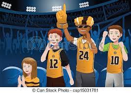 basketball fan clipart. sports fans in a stadium - vector illustration of. basketball fan clipart n