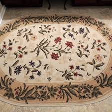 shaw living oval area rug summer flowers ebth intended for ideas 11