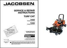 jacobsen outdoor power equipment manuals guides jacobsen turf cat t422d t436g repair service manual cd turfcat mower t 422 436
