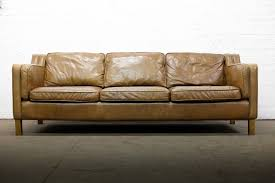 leather sofas uk. Contemporary Sofas SCANDINAVIAN DESIGN VINTAGE 3 SEATER BROWN LEATHER SOFA  FREE UK DELIVERY In Leather Sofas Uk