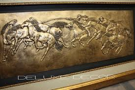 3d 3d horse wall art polo horses dd 5 on wall art pictures of horses with wall art ideas