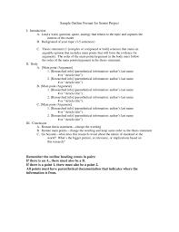 Sample Outline Format For Senior Project Remember The Outline