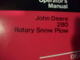 john deere operator s manual 260 rotary plow snow blower 24 99 john deere operator s manual 280 rotary snow blower om ga10234 issue k2