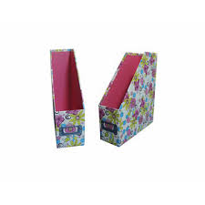 Purple Magazine Holder Cardboard Magazine Holder Floral Patterned Global Sources 88