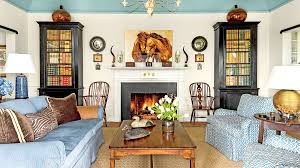 Living room interior design with fireplace Simple Unite Your Living Space Southern Living 106 Living Room Decorating Ideas Southern Living