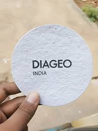 diageo plantable coasters for wine gl seed paper india