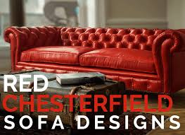 red chesterfield sofa designs of iron