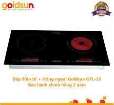 Bếp điện từ hồng ngoại kết hợp Goldsun GYL26 bảo hành 2 năm, giá tốt nhất  3,099,000đ! Mua nhanh tay!
