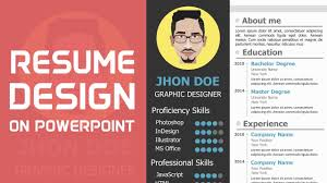 Resume In Powerpoint How To Make A Cv On Powerpoint