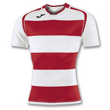 joma prorugby ii rugby shirt ss white red