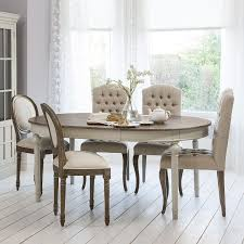 round oval extendable dining table with natural top light grey bas allissias attic vine french style
