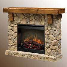 dimplex fieldstone electric fireplace hand hewn pine mantel