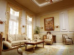 Interior:Opulent Modern Colonial Interior Style With Gold Drapery And Brass  Sconces And Wall Painting