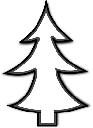 Paper Christmas Tree Template And Clip ArtChristmas Tree Outline Clip Art