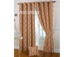 presto rust color jacquard curtain