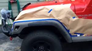 painting a 1997 jeep wrangler tj fender