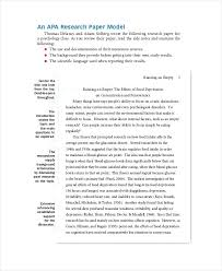 Apa Research Paper Layout Apa Essay Format Sample Top Essay Writing Sample Abstract Of