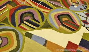 wall art tapestries rugs abstract wall hangings hand embroidered accent rug modern tapestry green blue red