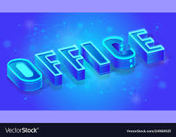 Office Banner Template Office Isometric Banner Or Concept Template