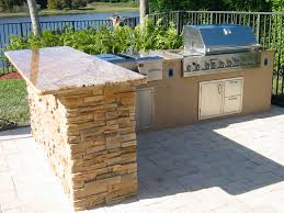 patio outdoor stone kitchen bar:  pleasant design ideas outdoor kitchen bar custom outdoor kitchen in florida with granite and ledge stone