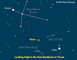 Sky Telescope Sky Chart Showing The Location Of The Newly