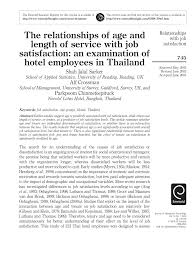 Pdf The Relationships Of Age And Length Of Service With Job