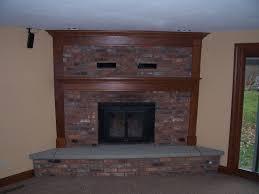 corner brick fireplace trim 100 1403