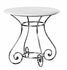 steel table round outdoor french provincial glass marble galvanised le forge