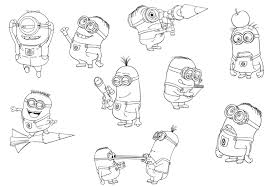 Minions Despicable Me Printable Coloring Pages Free Coloring