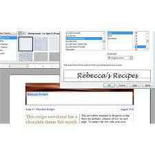 Open Office Newsletter Template Tips For Creating A Recipe Newsletter Or Cooking Pamphlet