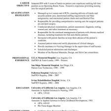 Resume Templates Sample Of Unbelievable Nursing Example Objective