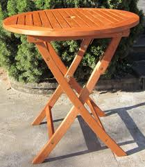 wood folding patio table