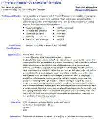 Sample Of Project Manager Resume It Manager Resume Samples And