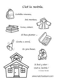C Est La Rentr E Le Mini Livre Colorier Les Ecoles Comptines