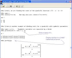 matlab polynomial roots integration plotting solving linear algebraic equations
