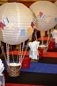Hot air balloon desserts table ideas. image source
