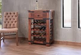 International Furniture Direct Parota Wine Rack Dunk & Bright