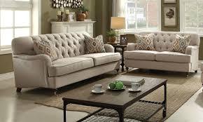 beige tufted sofa. Perfect Beige Alianza Beige Fabric 2Pc Button Tufted Sofa  Loveseat Set W 4 Accent  Pillows To U