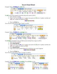 basic excel formulas cheat sheet excel cheat sheet now pdf