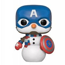 Купить <b>фигурка Funko POP</b>! <b>Bobble</b>: Marvel: Holiday: Capt America ...