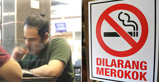 No Smoking Signage Msians Found Puffing Away Right Under No Smoking Signage Despite