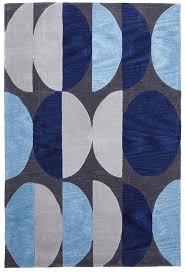 eclipse modern flooring rug area carpet blue navy grey 280x190cm