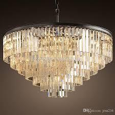 vintage chandeliers led lighting modern crystal prism chandelier light res de cristal for living dining room home decor pendent lighting pendant light
