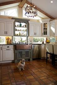 Rustic Farmhouse Kitchen Ideas Kitchen Rustic With Sloped Ceiling