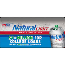 24 Pack Of Natty Light Natural Light Beer 24 Pack 12 Fl Oz Cans Walmart Com