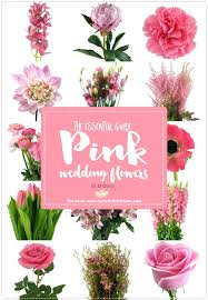 flower types for wedding. wedding bouquet flower types of pink flowers names rustic for _