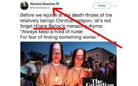 Christian Nurse Quotes Best of Atheist Richard Dawkins Warns PostChristian Europe May Be Worse