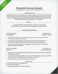 Sample Bartender Resume Elegant Bartender Resume Samples Free Unique