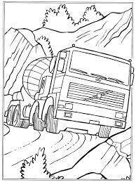 Semi Vrachtwagen Kleurplaten Trailer En Van Welke Kleur Krijgen